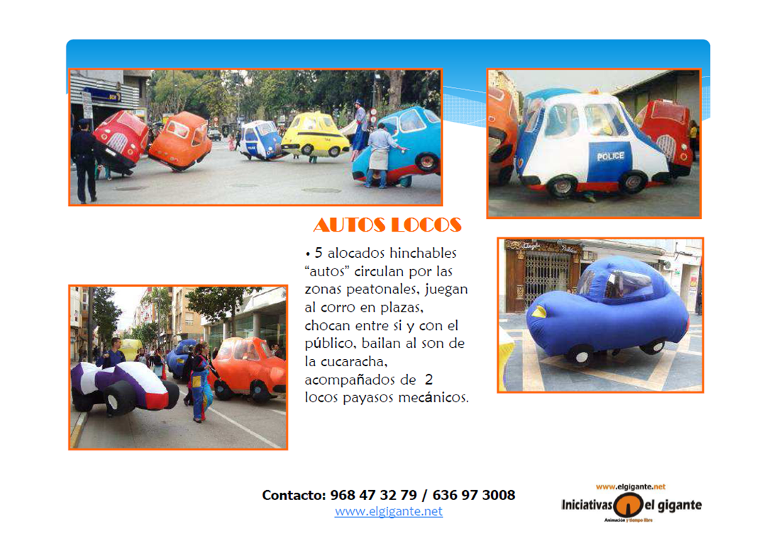Pasacalles Autos Locos
